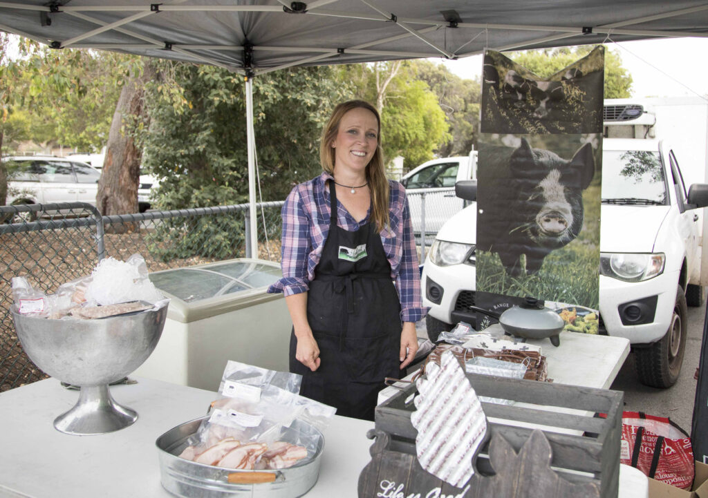 Hamlet Pork Mt Claremont Farmers market Stall Perth